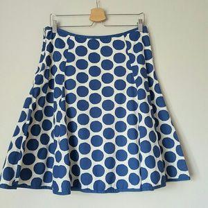 Boden polka dot circle skirt